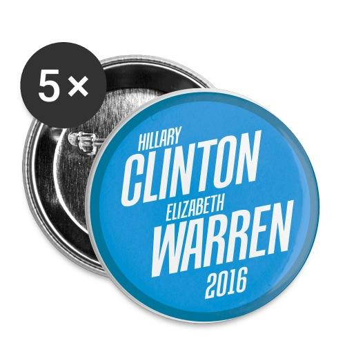 Hillary Clinton / Elizabeth Warren 2016 Buttons - Small Buttons