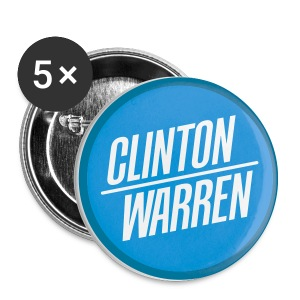 Clinton / Warren 2016 Buttons - Small Buttons