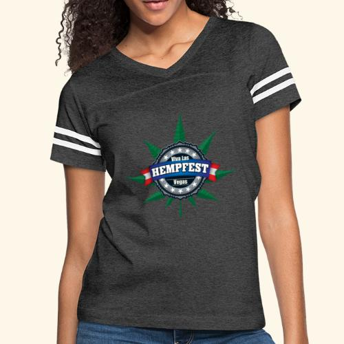 Ladies' Viva Las Hempfest Jersey Tee - Women's Vintage Sport T-Shirt