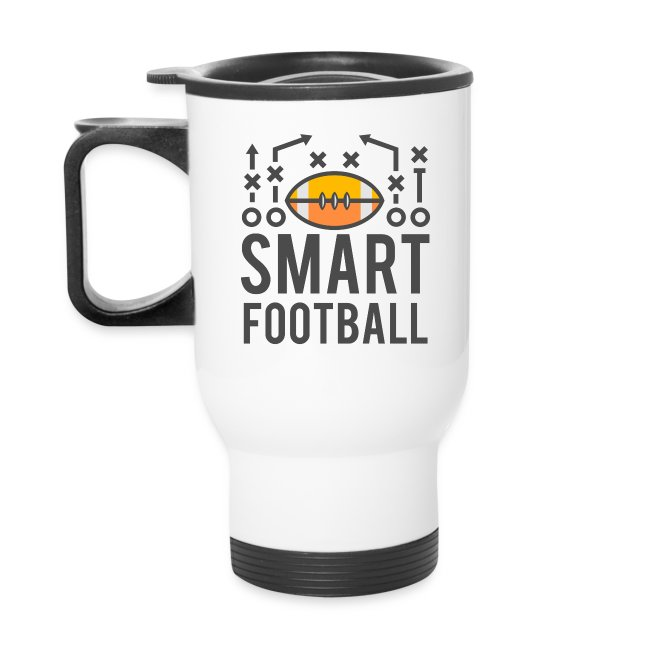 Smart Football White Travel Mug