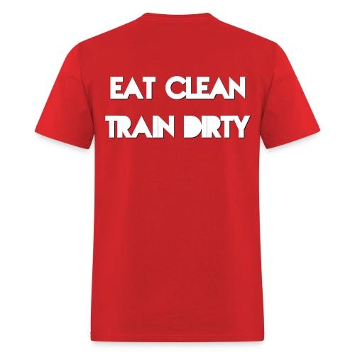 Eat Clean Train Dirty-Solid - Men's T-Shirt