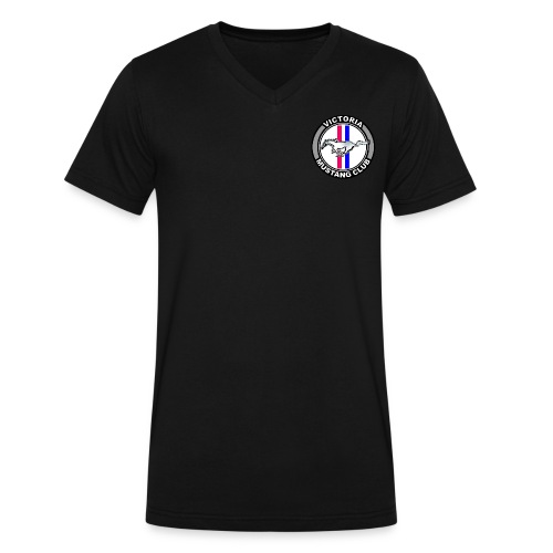 Men's VMC Logo V Neck T shirt - Men's V-Neck T-Shirt by Canvas