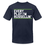 T-Shirts ~ Men's T-Shirt by American Apparel ~ Every Play I'm Russellin'