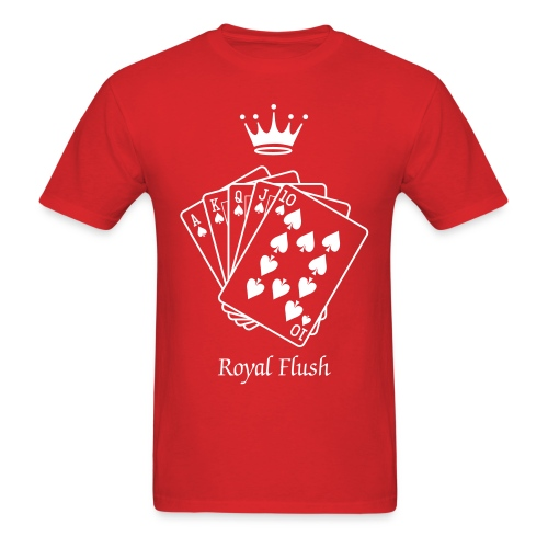 royal flush - Men's T-Shirt