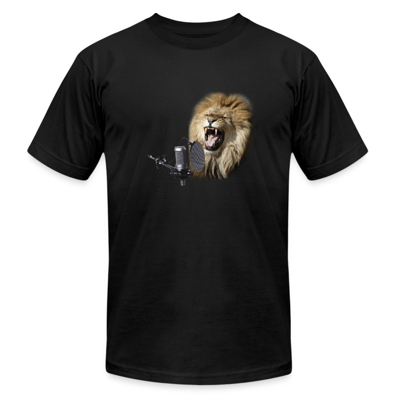 lion_on_mic - Men's T-Shirt by American Apparel