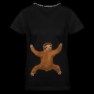 Women's T-Shirts ~ Women's V-Neck T-Shirt ~ Sloth Hug Women's V-Neck