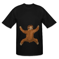 T-Shirts ~ Men's Tall T-Shirt ~ Sloth Love Hug Men's Tall Tee