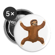 Buttons ~ Large Buttons ~ Sloth Love Hug 5 Large Buttons