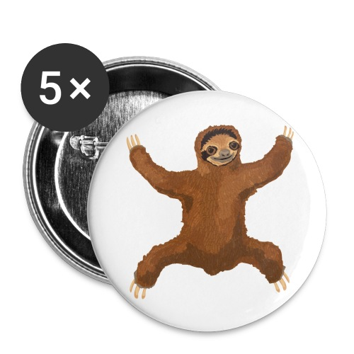 Sloth Love Hug 5 Large Buttons - Large Buttons