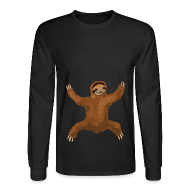 Long Sleeve Shirts ~ Men's Long Sleeve T-Shirt ~ Sloth Love Hug Men's Longsleeve Tee