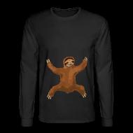 Long Sleeve Shirts ~ Men's Long Sleeve T-Shirt ~ Sloth Love Hug Men's Longsleeve Tee