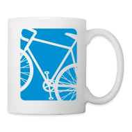 Mugs & Drinkware ~ Coffee/Tea Mug ~ Bike Bicycling Biking Mug Blue