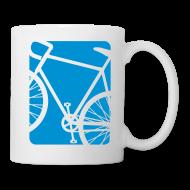 Mugs & Drinkware ~ Coffee/Tea Mug ~ Bike Bicycling Biking Mug Blue