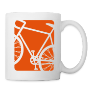 Mugs & Drinkware ~ Coffee/Tea Mug ~ Bike Bicycling Biking Mug Orange