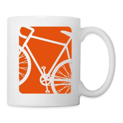Bike Bicycling Biking Mug Orange - Coffee/Tea Mug