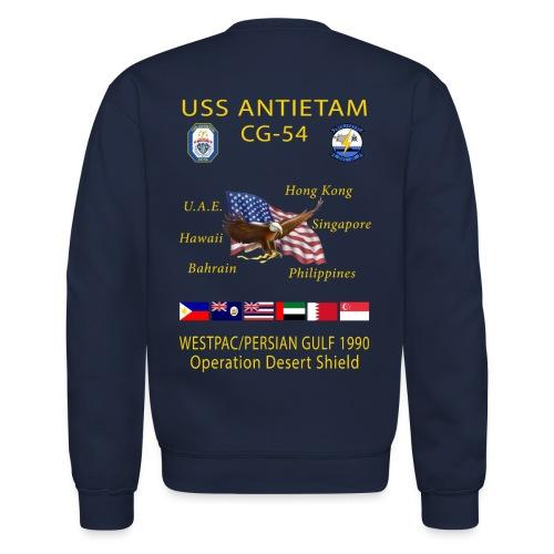 USS ANTIETAM CG-54 1990 DESERT STORM CRUISE SWEATSHIRT - Crewneck Sweatshirt