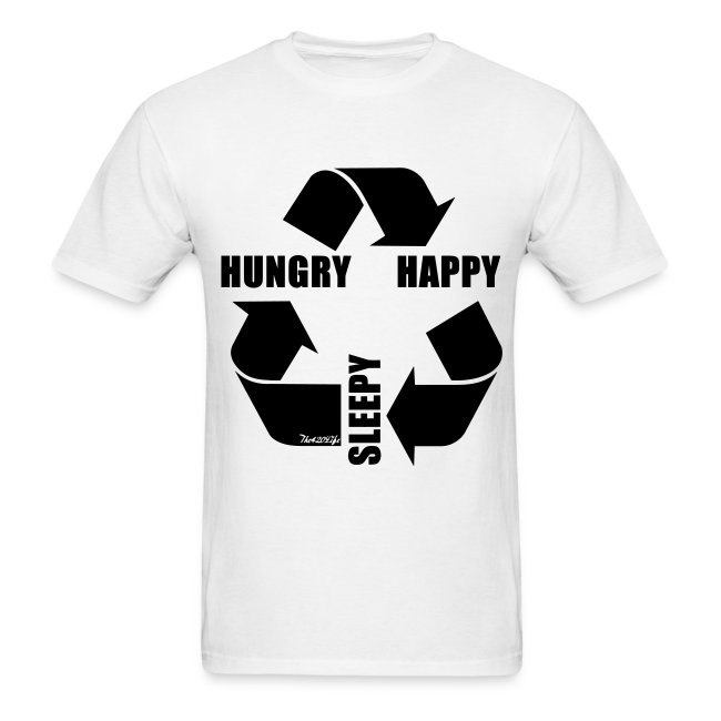 """Hungry, Happy, Sleepy Cycle"" T-Shirt Men"