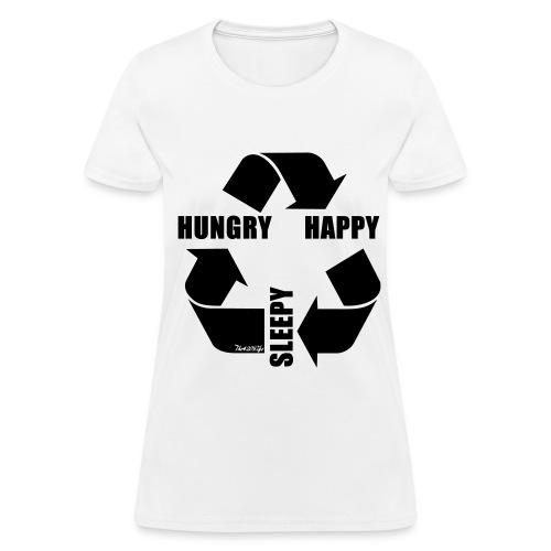 Hungry, Happy, Sleepy Cycle T-Shirt Women - Women's T-Shirt