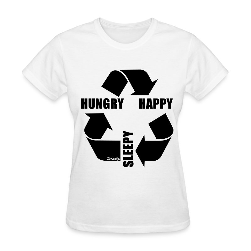 Hungry, Happy, Sleepy Cycle T-Shirt Women - Women's T-Shirt