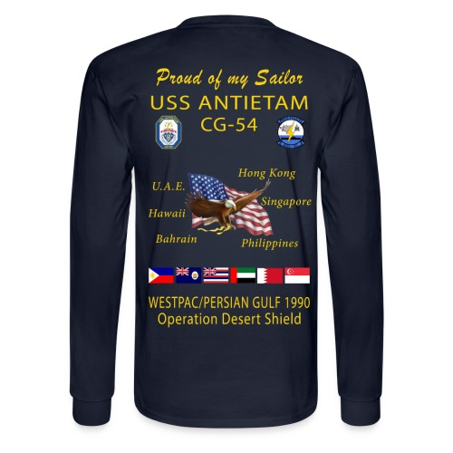 USS ANTIETAM CG-54 1990 DESERT STORM CRUISE LONG SLEEVE - FAMILY - Men's Long Sleeve T-Shirt
