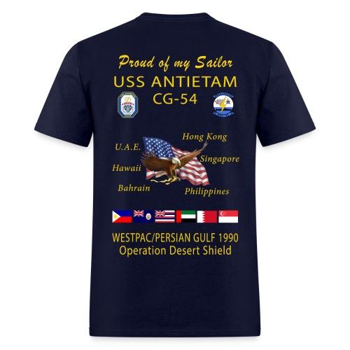 USS ANTIETAM CG-54 1990 DESERT STORM CRUISE SHIRT - FAMILY - Men's T-Shirt