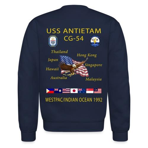 USS ANTIETAM CG-54 1992 CRUISE SWEATSHIRT - Crewneck Sweatshirt