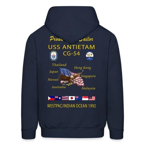 USS ANTIETAM CG-54 1992 CRUISE HOODIE - Men's Hoodie