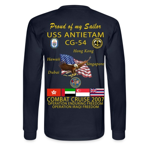 USS ANTIETAM CG-54 2007 LONG SLEEVE CRUISE SHIRT - FAMILY - Men's Long Sleeve T-Shirt
