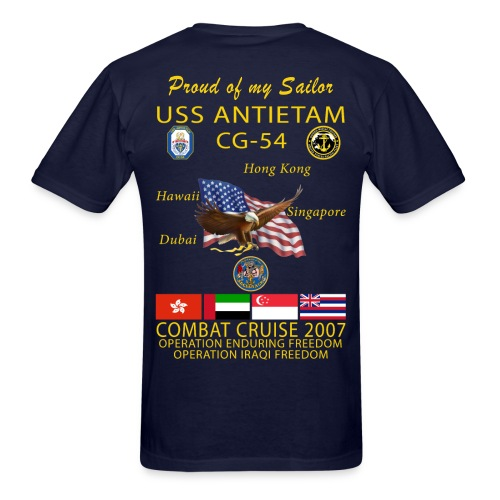USS ANTIETAM CG-54 2007 CRUISE SHIRT - FAMILY - Men's T-Shirt