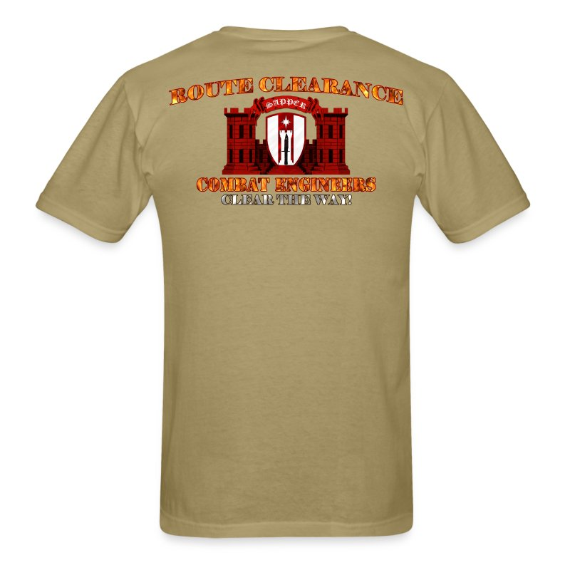 372nd En Bde - RC Sapper Back Only - Men's T-Shirt