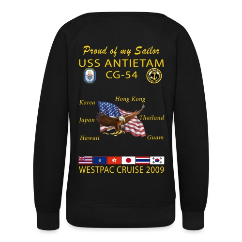USS ANTIETAM CG-54 2009 WOMENS CRUISE SWEATSHIRT - FAMILY - Women's Crewneck Sweatshirt