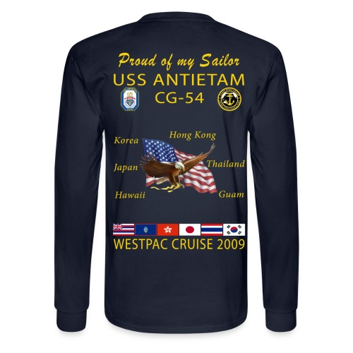 USS ANTIETAM CG-54 2009 CRUISE LONG SLEEVE - FAMILY - Men's Long Sleeve T-Shirt