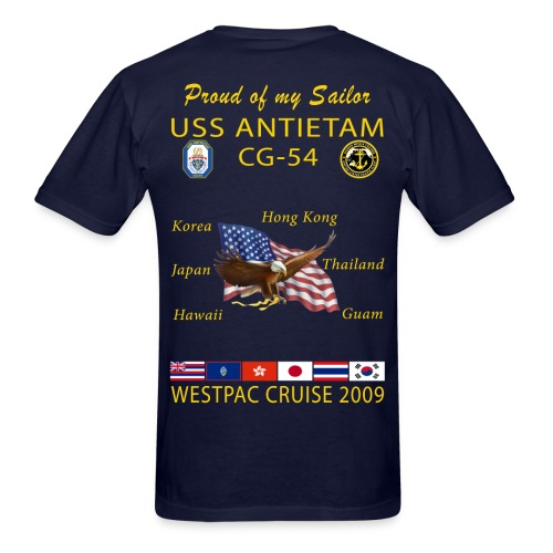 USS ANTIETAM CG-54 2009 CRUISE SHIRT - FAMILY - Men's T-Shirt