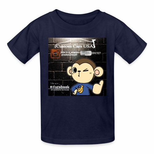 Kids Boy CCU Monkey Logos - Kids' T-Shirt