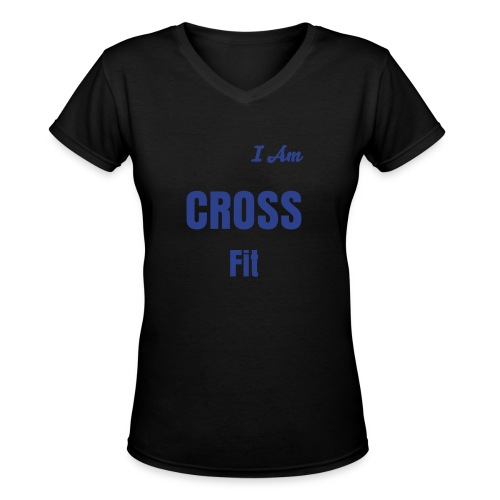 I Am Cross Fit - Women's V-Neck T-Shirt