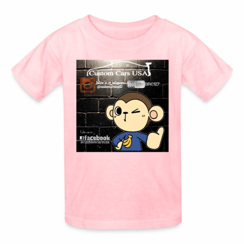 Kids Girl CCU Monkey Logos - Kids' T-Shirt