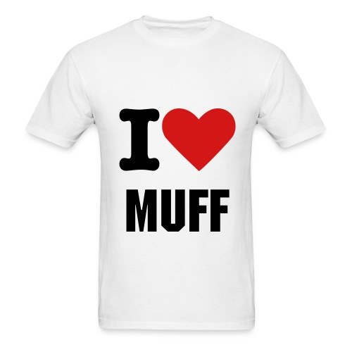 I Heart Muff - Men's T-Shirt