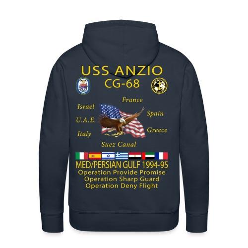 USS ANZIO CG-68 1994-95 CRUISE HOODIE - Men's Premium Hoodie