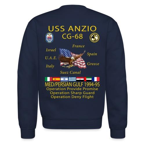 USS ANZIO CG-68 1994-95 CRUISE SWEATSHIRT - Crewneck Sweatshirt