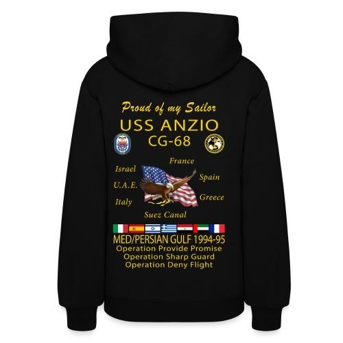 USS ANZIO CG-68 1994-95 WOMENS CRUISE HOODIE - FAMILY - Women's Hoodie