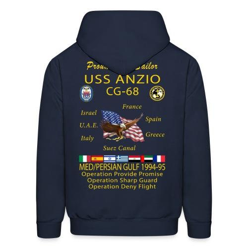 USS ANZIO CG-68 1994-95 CRUISE HOODIE - FAMILY - Men's Hoodie