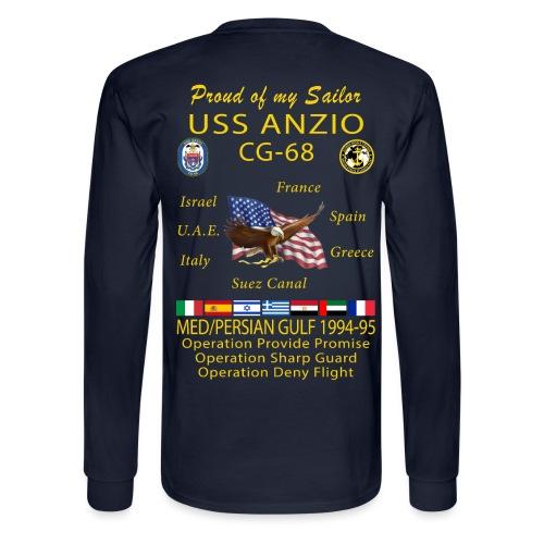 USS ANZIO CG-68 1994-95 LONG SLEEVE CRUISE SHIRT - FAMILY - Men's Long Sleeve T-Shirt