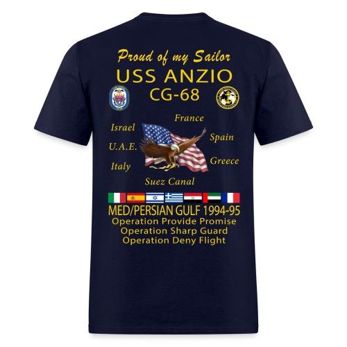 USS ANZIO CG-68 1994-95 CRUISE SHIRT - FAMILY - Men's T-Shirt