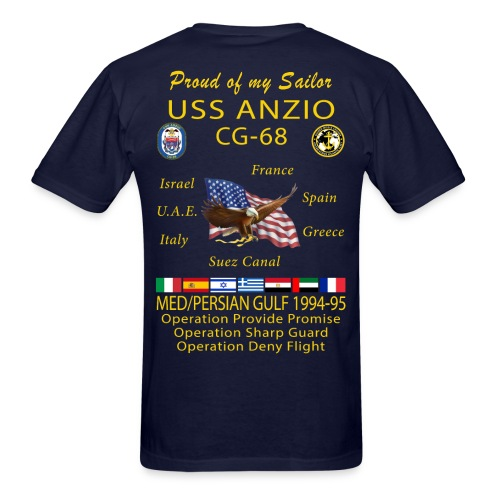 USS ANZIO CG-68 1994-95 CRUISE SHIRT - FAMILY - Men's T-Shirt