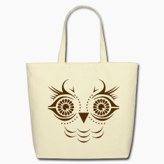 A face of an owl Bags