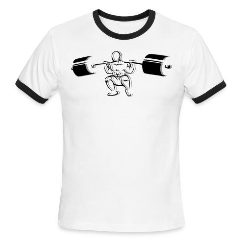 Powerlifter Squat - Men's Ringer T-Shirt