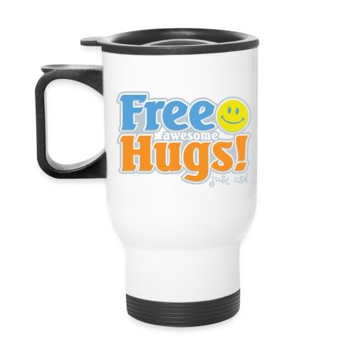 Free Awesome Hugs! - Travel Mug