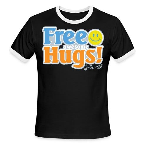 Free Awesome Hugs! - Men's Ringer T-Shirt