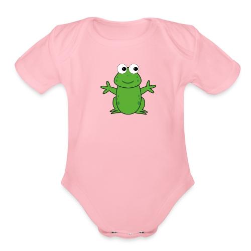 CT Baby Frog (Baby Body Suit) - Organic Short Sleeve Baby Bodysuit