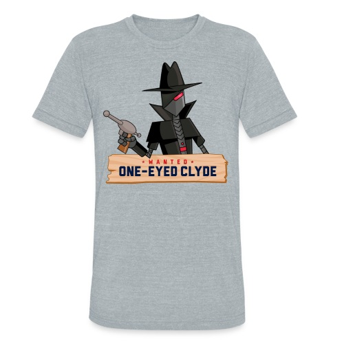 SPECIAL! One-eyed Clyde T-Shirt - Unisex Tri-Blend T-Shirt by American Apparel